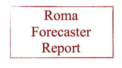 E' disponibile l'aggiornamento del ROMA FORECASTER REPORT