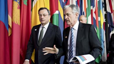 EurUsd, Draghi vs Powell